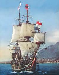 Die Dromedaris: Een van die skepe waarmee Jan van Riebeeck na SA gekom het.