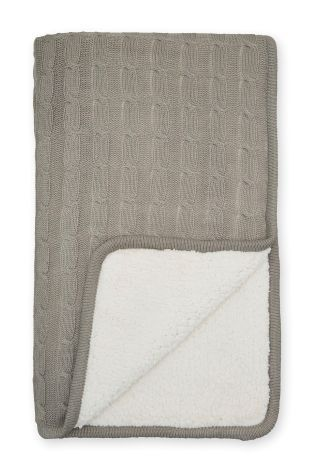 Buy Knitted Shearling Throw from the Next UK online shop