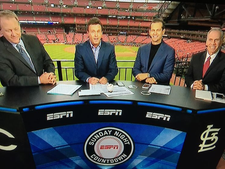 ESPN Baseball Tonight with Curt Schillings, Karl Ravish, Aaron Boone and Tim Kurkjuin from St. Louis, MO