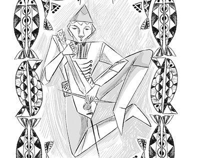 """Check out new work on my @Behance portfolio: """"kemençe illustration"""" http://be.net/gallery/51524379/kemence-illustration"""