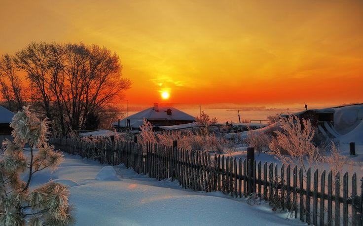 Хорошо зимой в деревне!