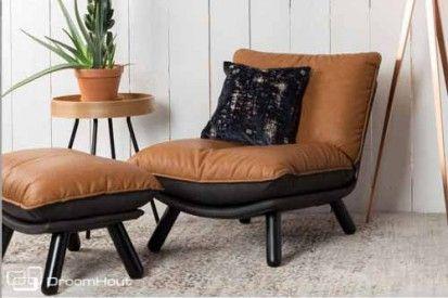 Nieuw bij DroomHout.nl   Heerlijke loungestoel Lazy Sack van Zuiver   Vintage cognac