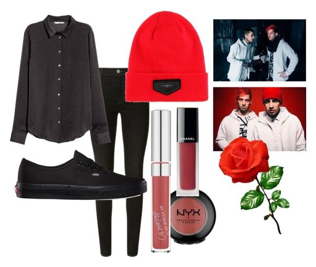 """twenty one pilots - blurryface aesthetic"" by softoctobernight on Polyvore featuring J Brand, H&M, Vans and Givenchy"