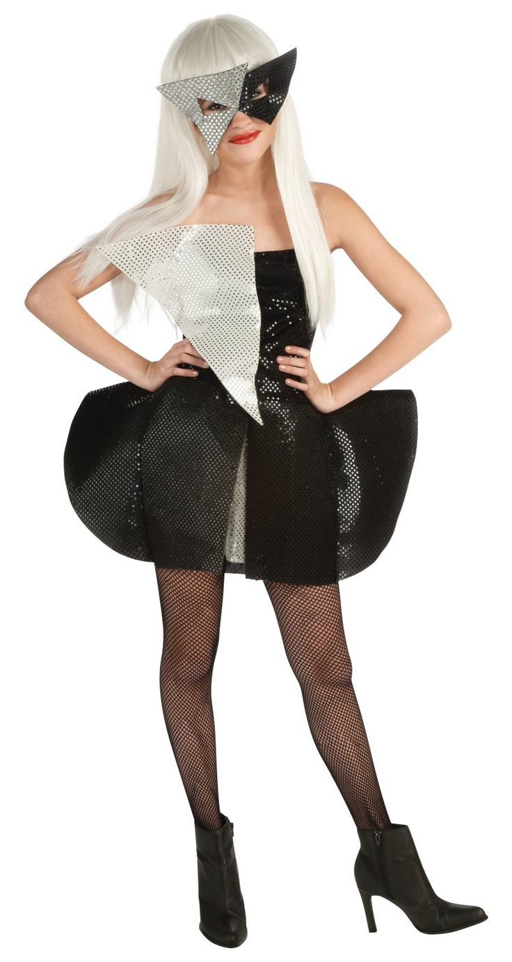 Lady Gaga Black and Silver Sequin Dress Tween Costume from BuyCostumes.com #costume #gaga #celebrity