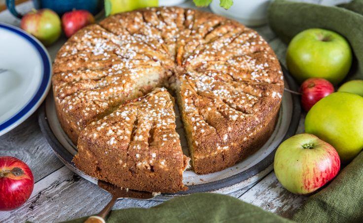 Fantastisk äppelkaka med mandelmassa!