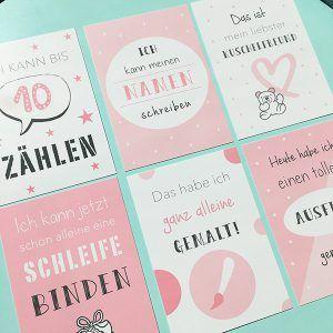 Meilenstein Karten - mit unseren Kartensets für Babys, für die Schwangerschaft und für Kleinkinder kannst du besondere Höhepunkte zauberhaft festhalten.