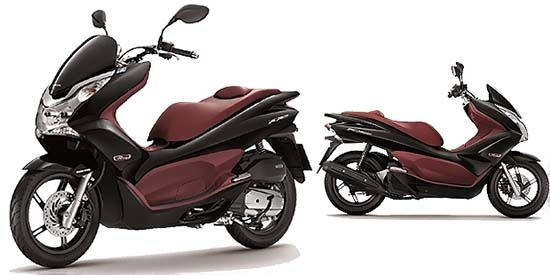 Honda scooters PCX150i model for 2013, Available in two colors Metallic Black and Candy Red. This scooter has become increasingly popular among older drivers but also for younger drivers.