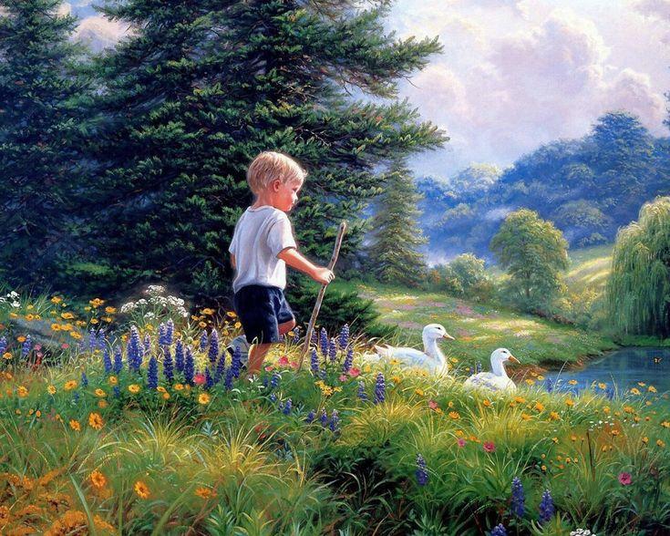 Открытки природа и дети