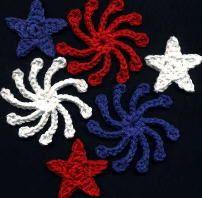 4th of July Fridgies ~ free pattern