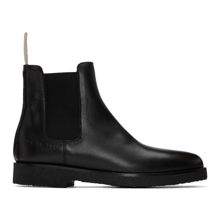 Woman by Common Projects - Black Leather Chelsea Boots