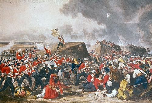 War: First Sikh War. Date: 10th February 1846. Place: In the Punjab in North West India. Combatants: British troops and Indian troops of the Bengal Presidency against Sikhs of the Khalsa, the army of the Punjab.1849: Britain annexes the Sikh kingdom of Punjab and seizes the Koh-i-noor