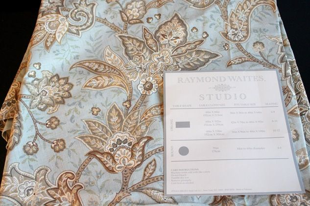 2 Raymond Waites tableclothes make two beautiful curtain panels. Tutorial included!!