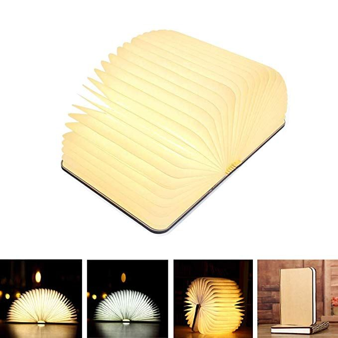 Xtozon Folding Book Lamp Wooden Book Lamp Folding Portable Desk Light Wireless Usb Rechargeable Led Folding Book Lamp Paper Lantern Lights Led Paper Lanterns