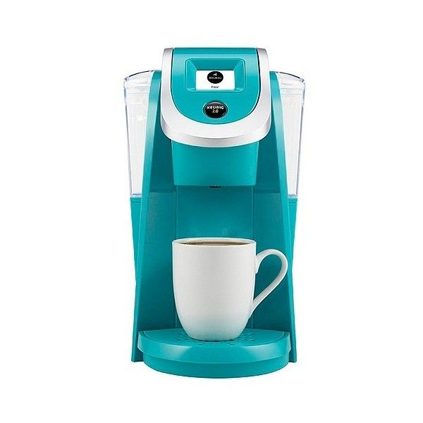 Keurig . K200 Coffee Maker Brewing System, Turquoise ($110) ❤ liked on Polyvore featuring home, kitchen & dining, small appliances, turquoise, coffee cappuccino maker, single serve coffee brewer, coffee makers, keurig espresso maker and single serving coffee maker