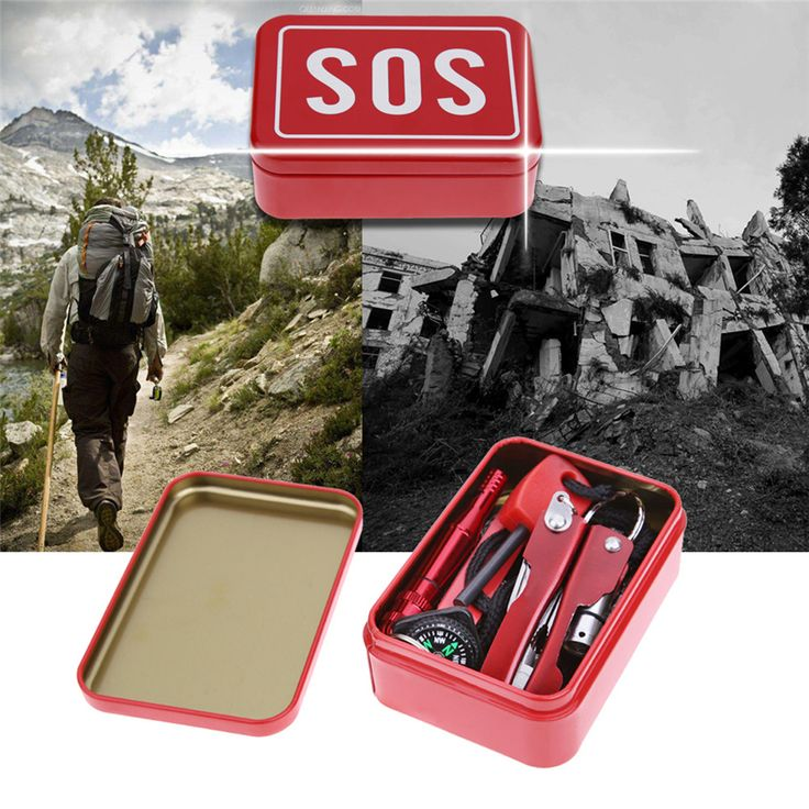 New Portable SOS Emergency Survival Kit Outdoor Camping Hiking Equipment Box Knife Multi-function Wildlife Tool Survival Gear