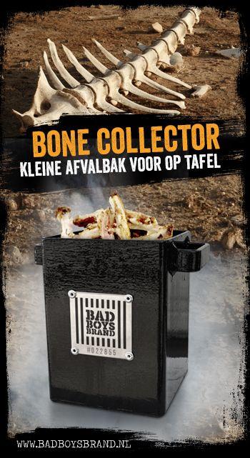 Bone Collector - Kleine afvalbak voor op tafel - 100% made in jail