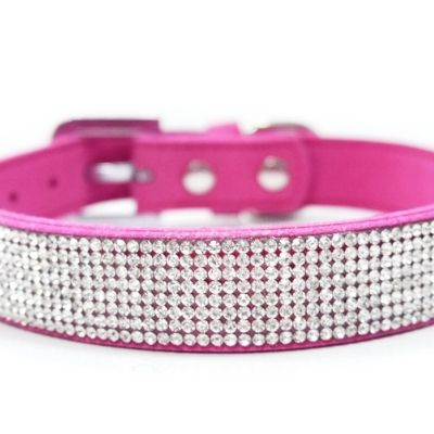 VIP Bling Dog Collar :: Fuchsia.  This fancy, bling dog collar is simply stunning.  Your furry best friend will be the envy of all.
