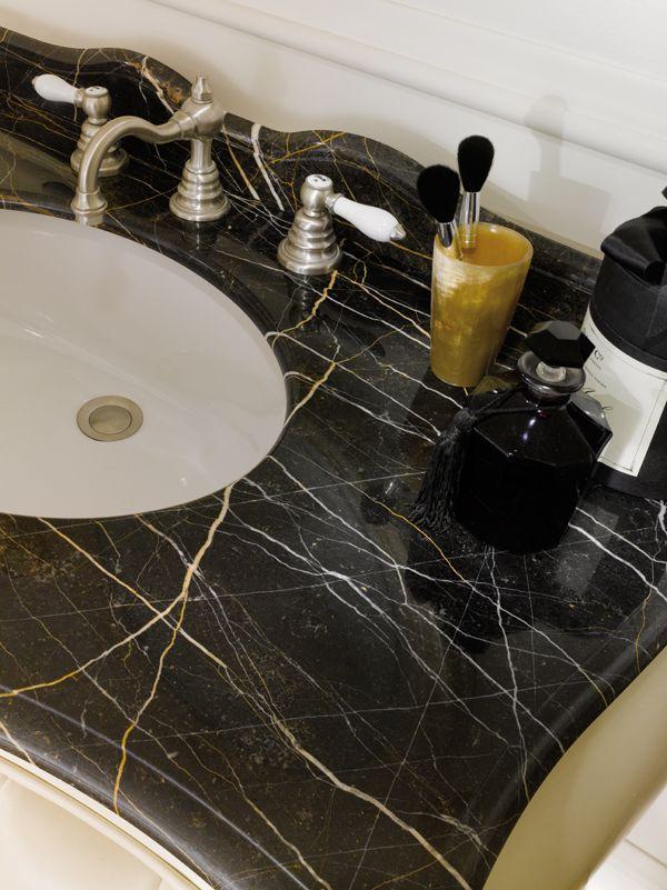 Nero saint laurent marble top.