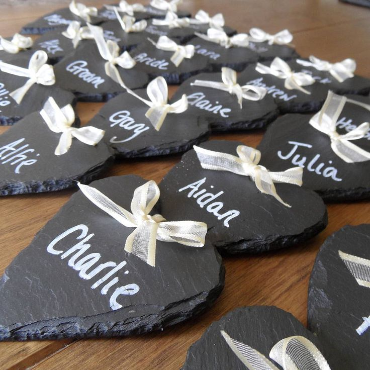 Wedding Favours & Place Names  http://www.notonthehighstreet.com/slategiftcompany/product/wedding-favours-place-names#