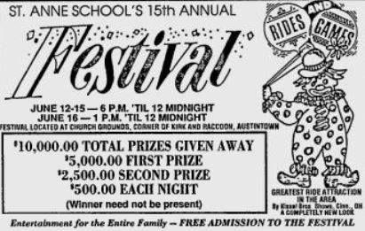 St. Anne School Festival Youngstown Ohio