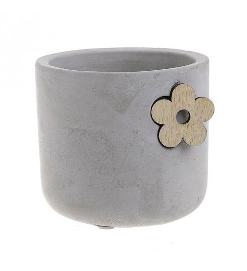 CEMENT FLOWER POT IN GREY COLOR D11Χ10