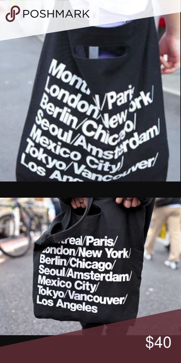 American Apparel Black Cities Bag American Apparel | Black Color | Cities Tote | No Flaws ! | Adjustable ! | Bought From Another Seller || TAGS : American Apparel , AA , Brandy Melville , BM , UO , Urban Outfitters American Apparel Bags