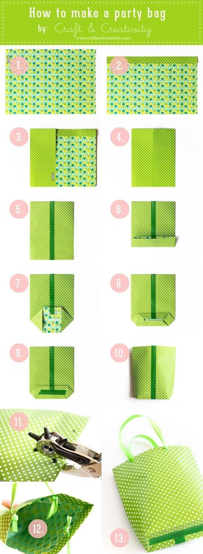 DIY Cómo hacer bolsas para regalar con papel de regalo. TUTORIAL CON FOTOS