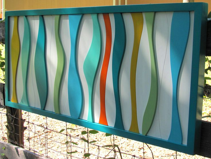 mid century modern atomic wall art-- I may have to pin this twice, the colors are so perfect