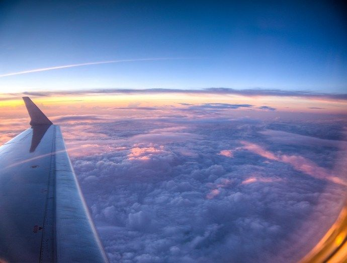 Image result for airplane with curvature of earth