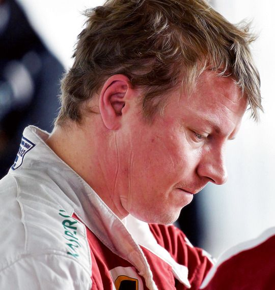 Kimi disappointed...The promising beginning this year has turned sour.
