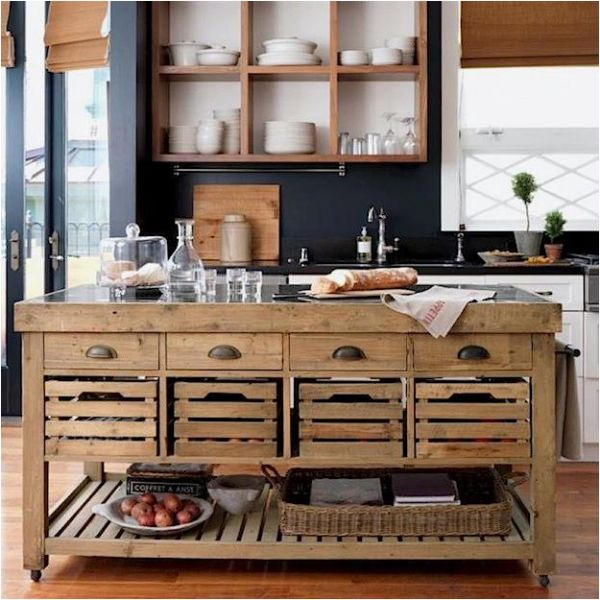 Rustic Kitchen Island Table