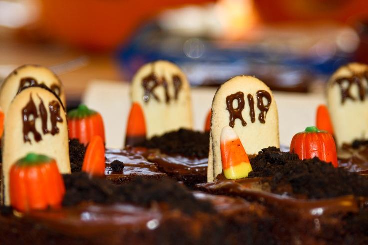 Graveyard Brownies