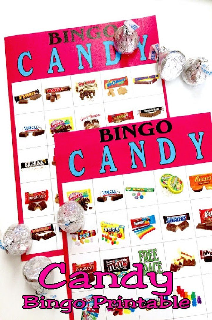 Candy Bingo Game Printable in 2019 Candy Land Birthday Party Ideas