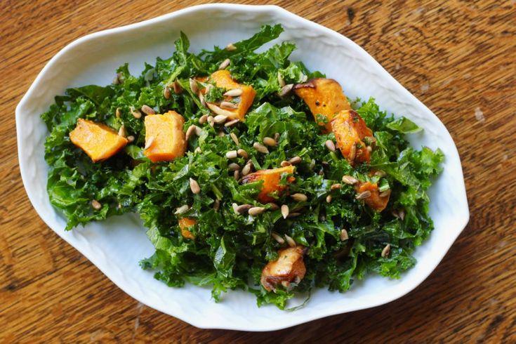 Grønkålsalat med bagt græskar