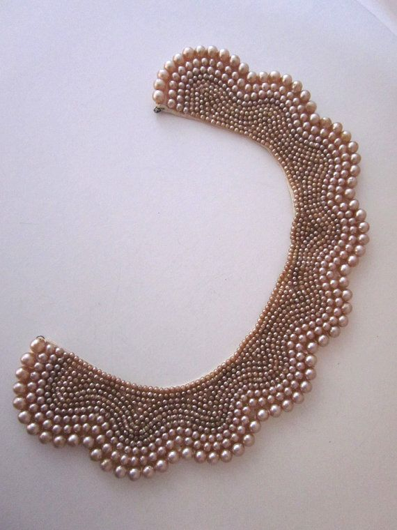 Vintage Pearl Collar Accessory