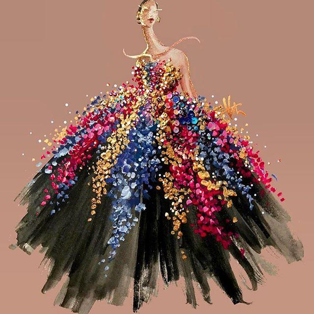 Wow #oscardelarenta gown by @paperfashion