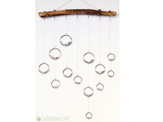 Dew Drops Hanging Mobile Crystal Gifts Geometric Home Decor