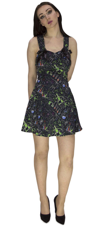 MCR Beautiful Art and Science Short Black Dress