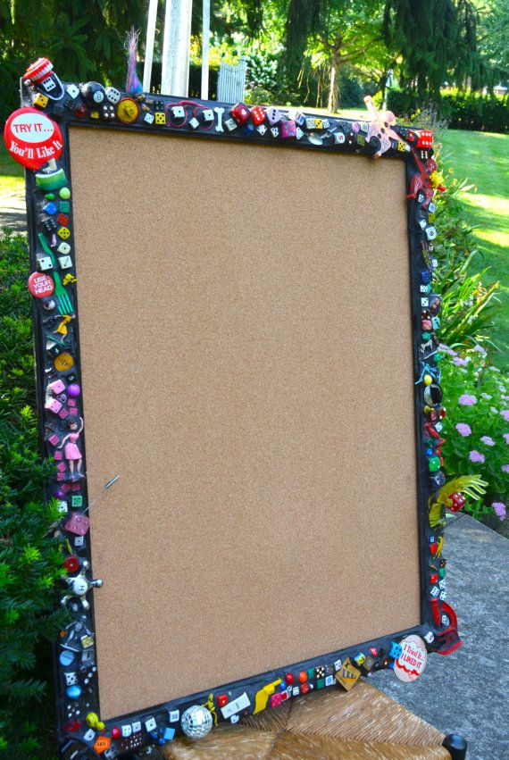 Huge Whimsical Mosaic Cork Bulletin Board with by ViaVIVIAN, $579.00