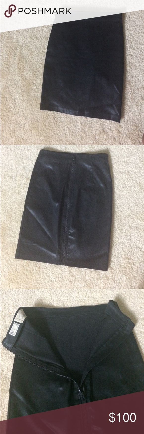 "All Saints pencil skirt AllSaints skirt • pencil style • black with sheen coating • very stretchy • Sz 6 • full back zip closure • zipper perfectly intact • 20"" long • excellent, like-new condition • fast same/next day shipping• BUY IT NOW!!! All Saints Skirts Pencil"