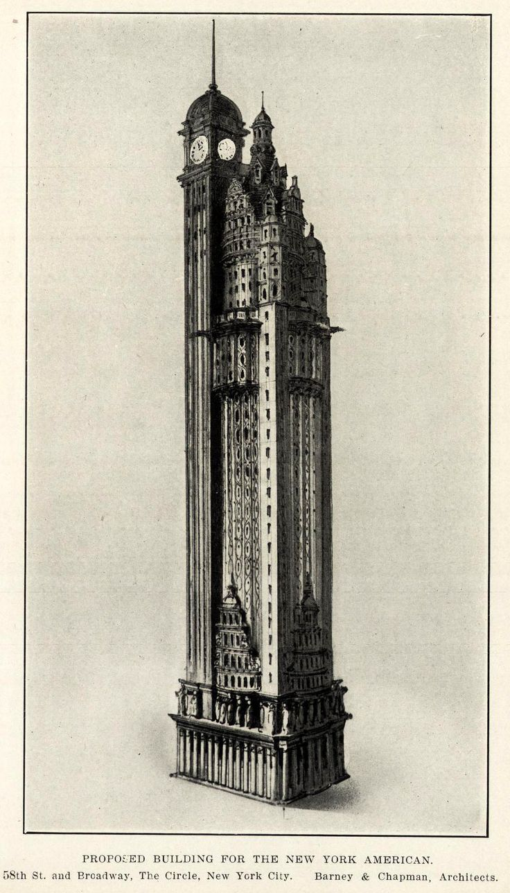 133 best never built art deco skyscrapers images on pinterest proposed design for the new york american journal headquarters new york city architecture blueprintsarchitecture malvernweather Image collections