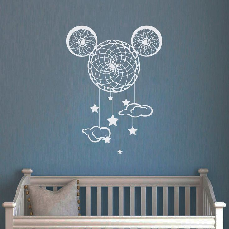 DreamCatcher Wall Decals Mickey Mouse Vinyl Decal Nursery Dream Catcher  Sticker Kids Baby Decoration Sweet Home Part 37