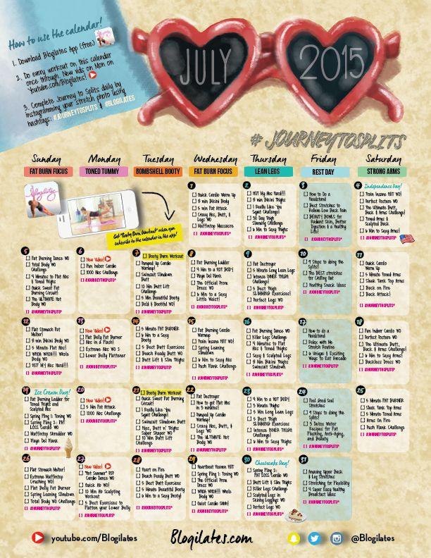 April Calendar Ilates : Best ideas about ilates calendar on pinterest