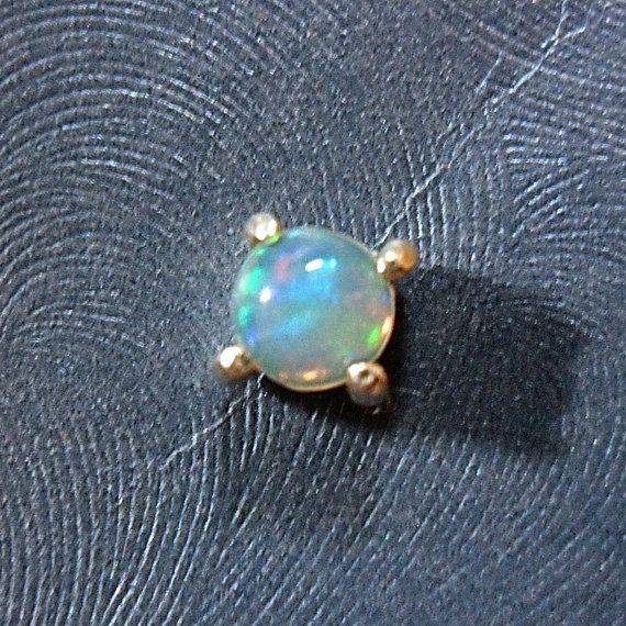 $23 4mm Genuine Opal Microdermal Top