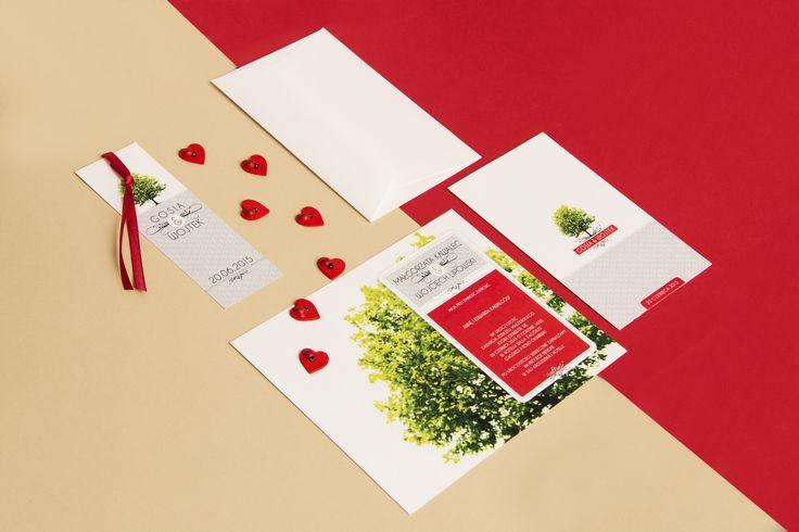Stylowe zaproszenie z motywem drzewa, dostępne w kilku wersjach kolorystycznych!