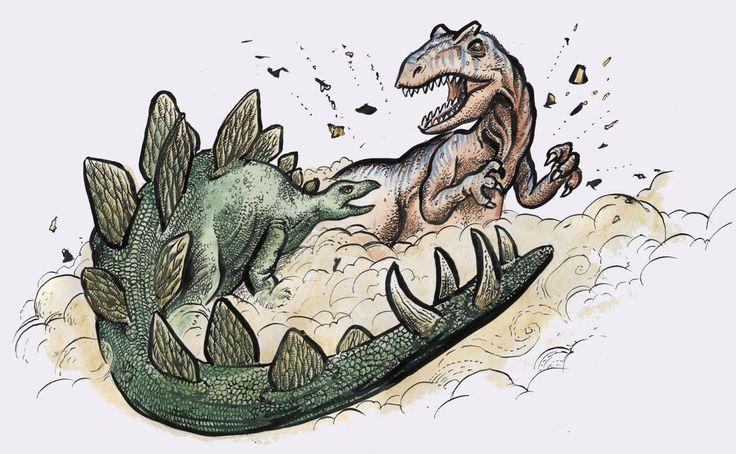 Allosaurus vs Stegosaurus by Snake-Artist.deviantart.com on @deviantART