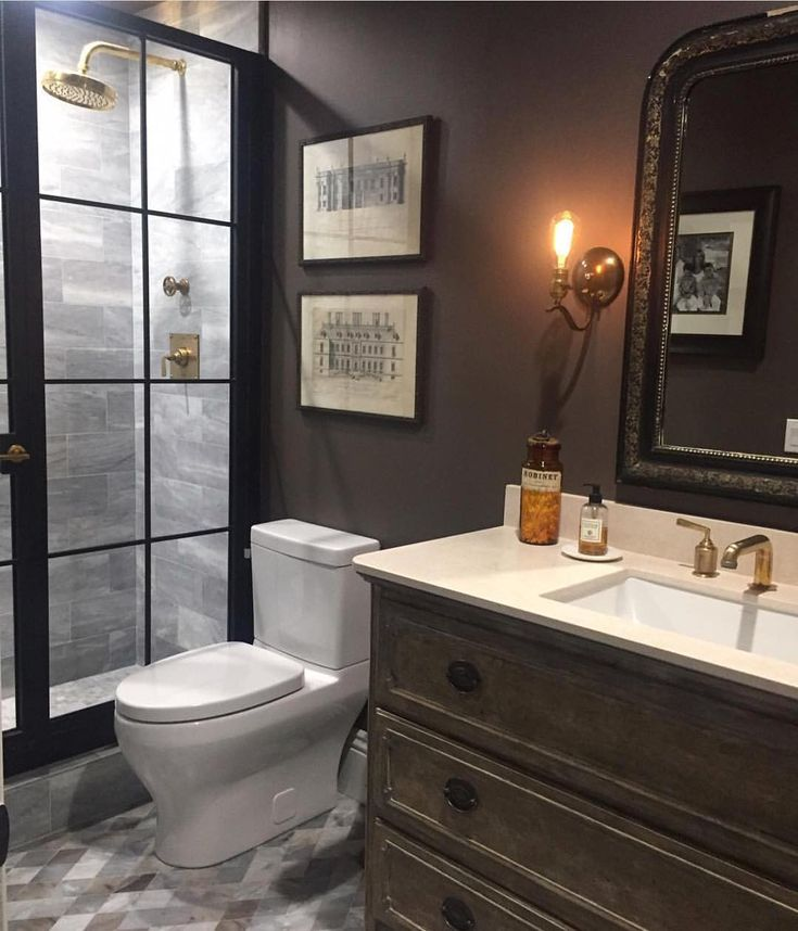 Farrow & Ball Tanner's Brown in a gorgeous bathroom design by Kymberley Fraser of A Beautiful Mess Home. #farrowandball #tannersbrown #abeautifulmesshome #bathroomdesign #brownpaintcolor