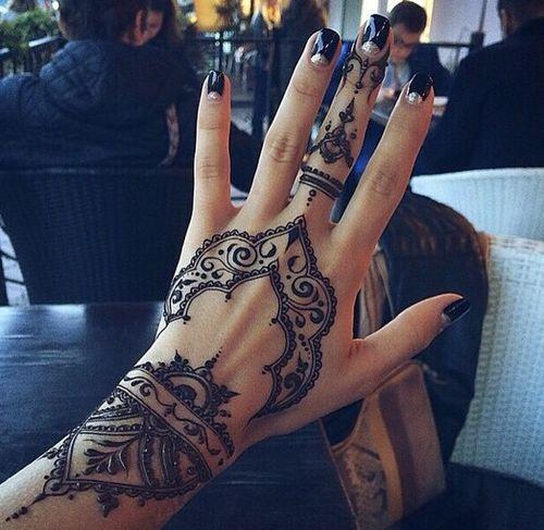 finger henna tattoos - Google Search