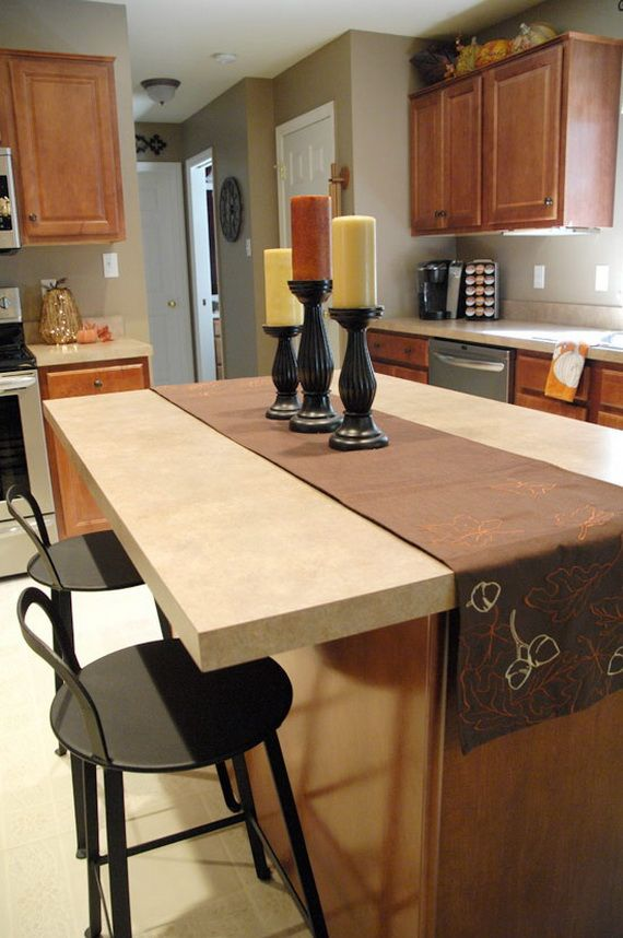 like this color 37 awesome fall kitchen dcor ideas 37 awesome fall kitchen dcor ideas with white grey kitchen walls wooden table sink oven stove - Fall Kitchen Decorating Ideas