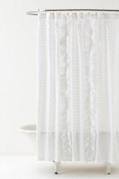 Beautiful Dot Flurry Shower Curtain #anthropologie